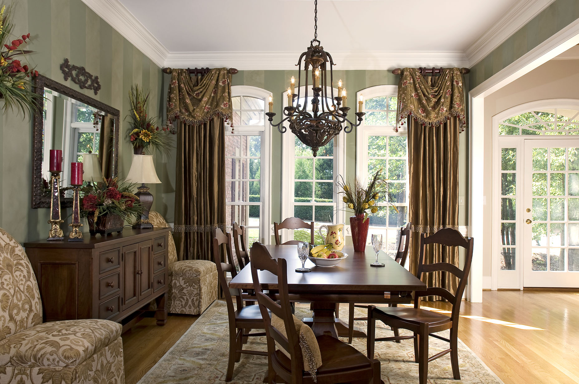 Decorating den interiors blog interior decorating and for Formal dining room window treatments